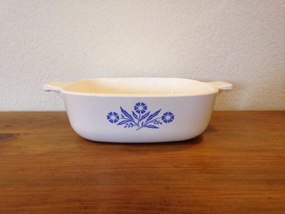 Corning Ware BLUE CORNFLOWER 1 Quart Casserole Dish P-1-B