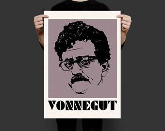 """Kurt Vonnegut Screenprint poster - 24"""" x 18"""""""