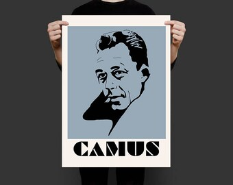 """Albert Camus Screenprint Poster 24""""x18"""""""