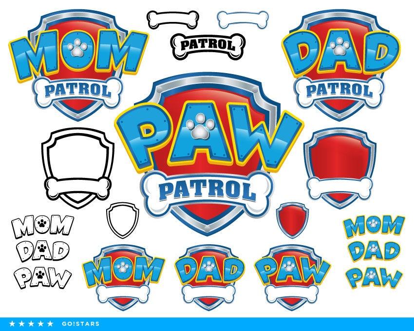 pfote patrol clipart kontur paw patrol svg mama patrol svg. Black Bedroom Furniture Sets. Home Design Ideas