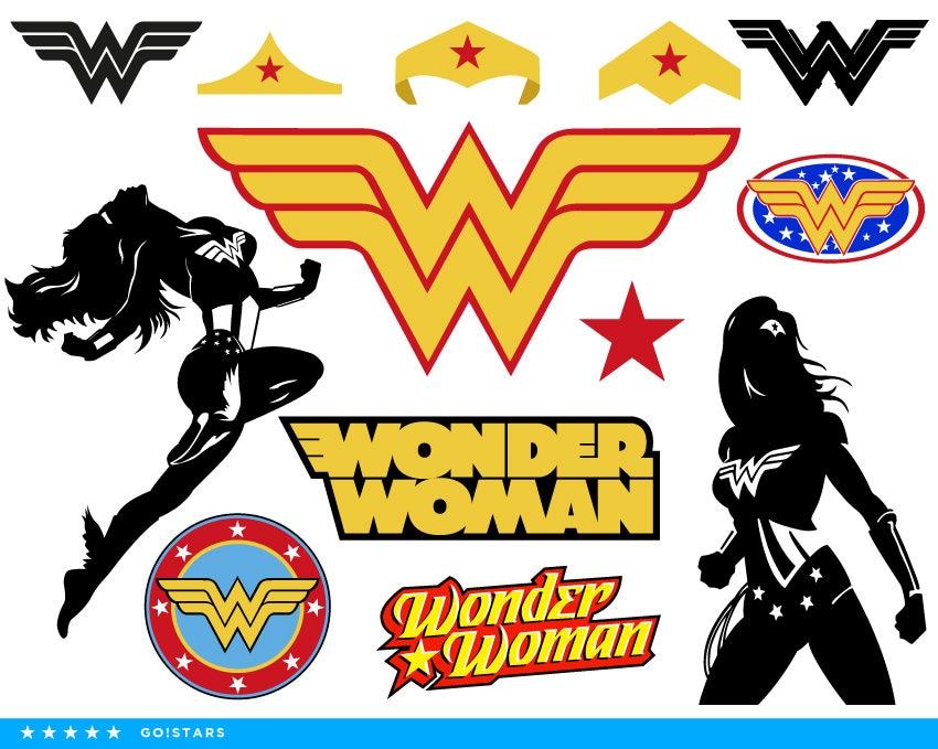 Wonder Woman Clipart Silhouette Wonder Woman Svg Woman Etsy