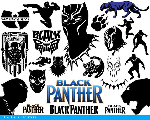 black panther svg black panther clipart silhouette black etsy
