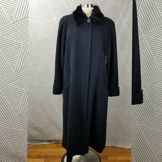 Donniebrook Rabbit Fur Trimmed Dress Coat Size 10