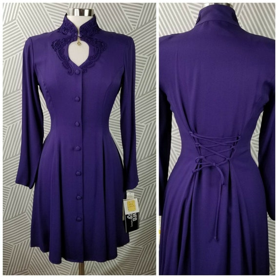 New Vintage size 6/8 Small Gothic Dress Victorian