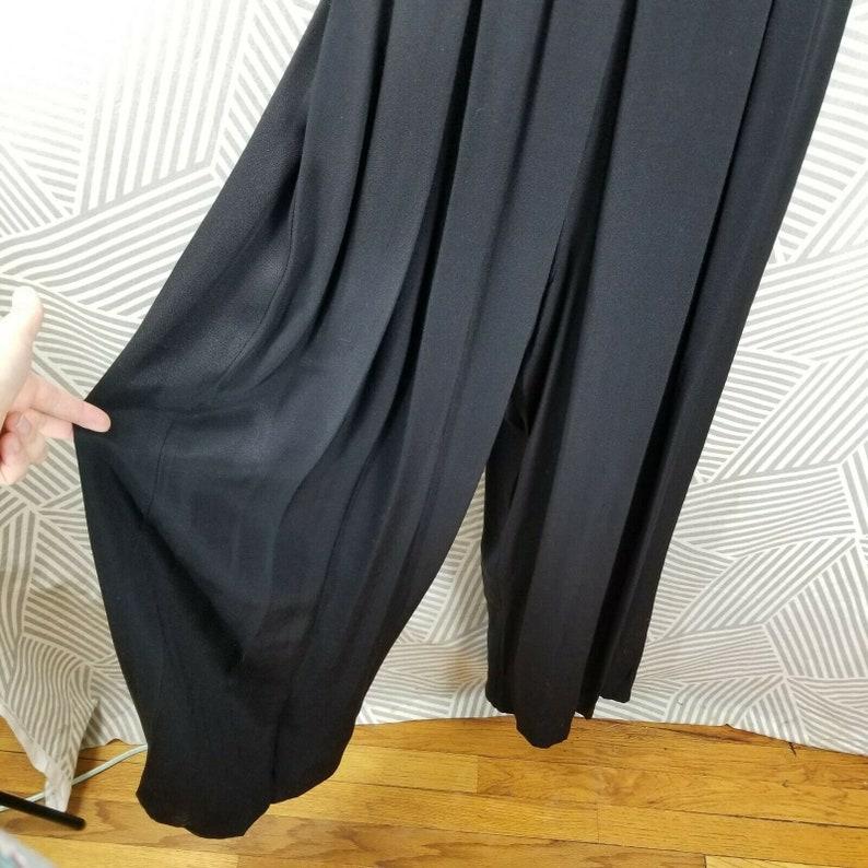 Vintage 90s Jumpsuit Size 10 Romper Playsuit business Velvet career evening