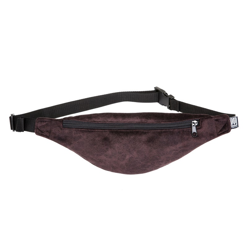 d8d10f27fd6 Ball bag narrow, velvet marble brown, hipbag, shoulder bag, belt bag, hip  pocket