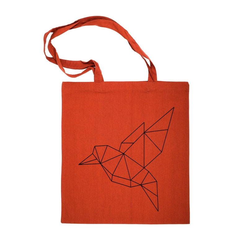Jute Bag Origami Bird Carrier Bag Shopping Bag Bag