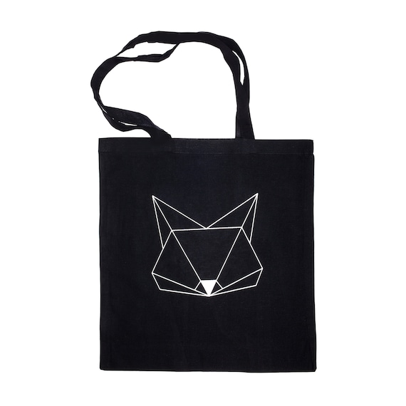 Jute Bag Origami Fox Cat Carrier Bag Shopping Bag Bag