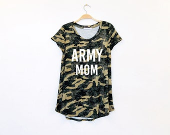 d355de2ffb5f9 Army Mom Camo Tee | Made in USA | Women's clothing, army mom, graphic tee,  graphic, shirt, army mom shirt, military, camo shirt, camo tee
