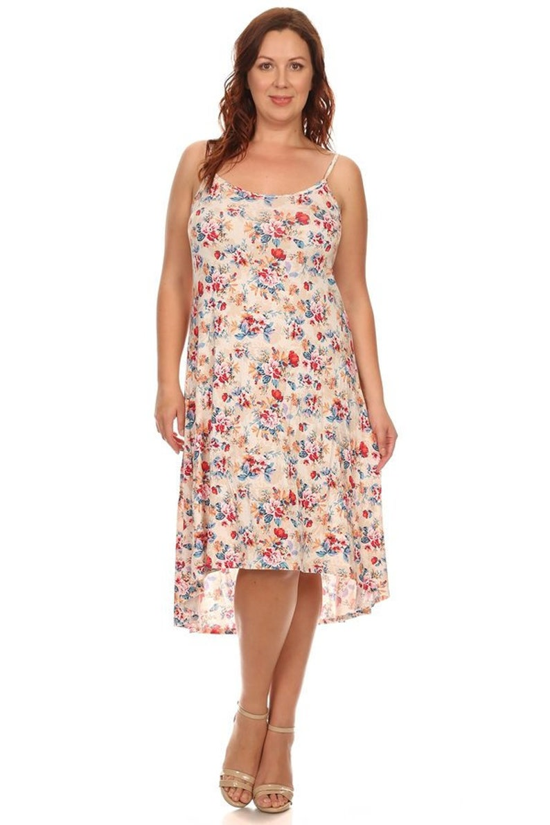 Plus Size Floral Hi Lo Dress 1X Women\'s clothing plus | Etsy