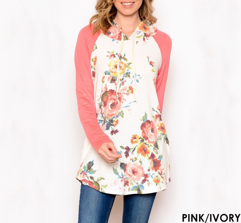 d6bd1a424777 Cute and Comfy Floral Hoodie S-3X Women's clothing   Etsy
