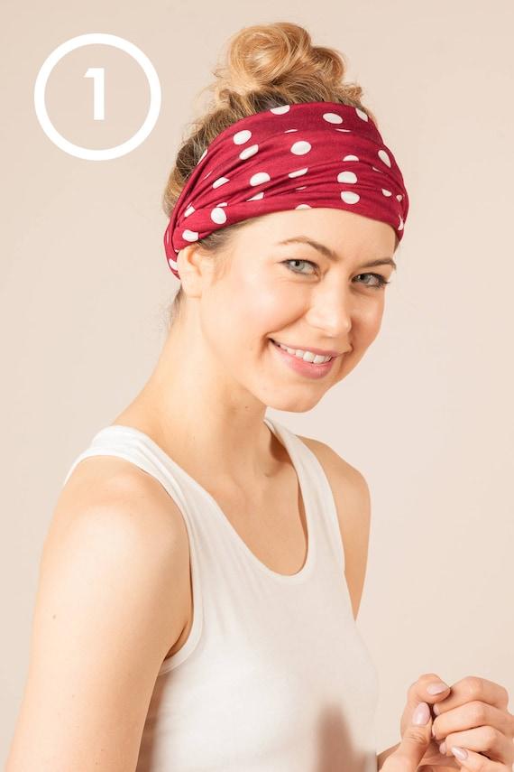 Polka Dot Wide Headbands 3 Styles Women s Headband  a6a3a807a4