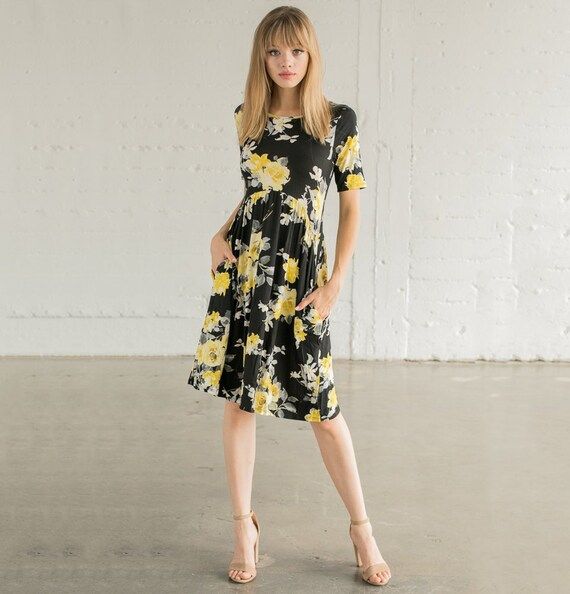 e7a8fe10892e Floral Dress with Pockets S-3X Women's clothing   Etsy