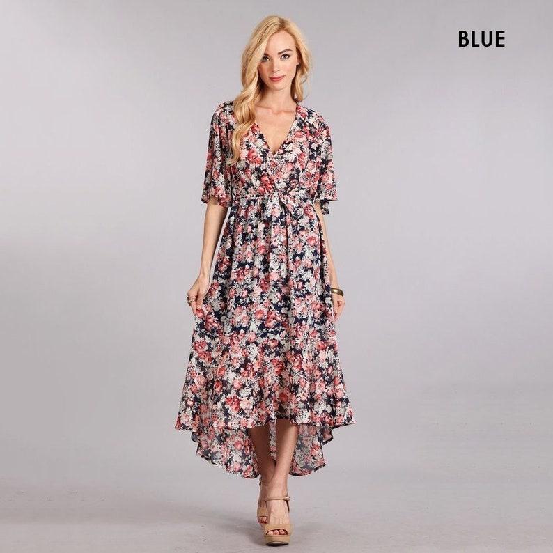 6e78fef52f3 High Low Floral Maxi Dress Women s dresses clothing