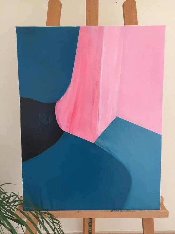 Color Block Painting On Canvas Abstract Art Etsy