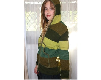 Yak Wool Thermal Hooded Unisex Jacket - Medium