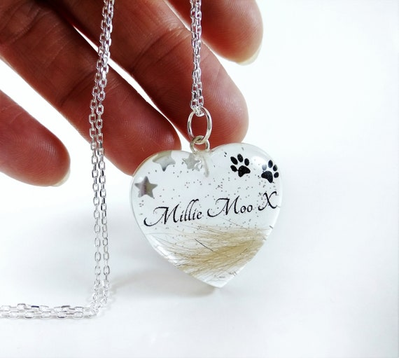 Custom Your Pet/'s Photo Memorial Glass Pendant Necklace Handcrafted Personalized