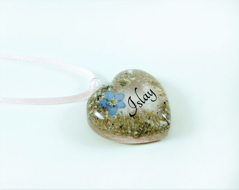 Personalised pet memorial jewellery Forget me not cremation pendant Pet loss urn ashes Personalised Christmas Gift Custom ashes necklace