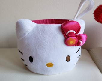 Hello Kitty with pink bow Plush Easter Basket 3082cee8406f0