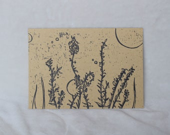 English Lavender Relief Print