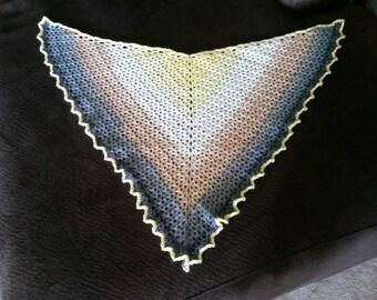 SALE! Crochet Shawlette Triangle Scarf