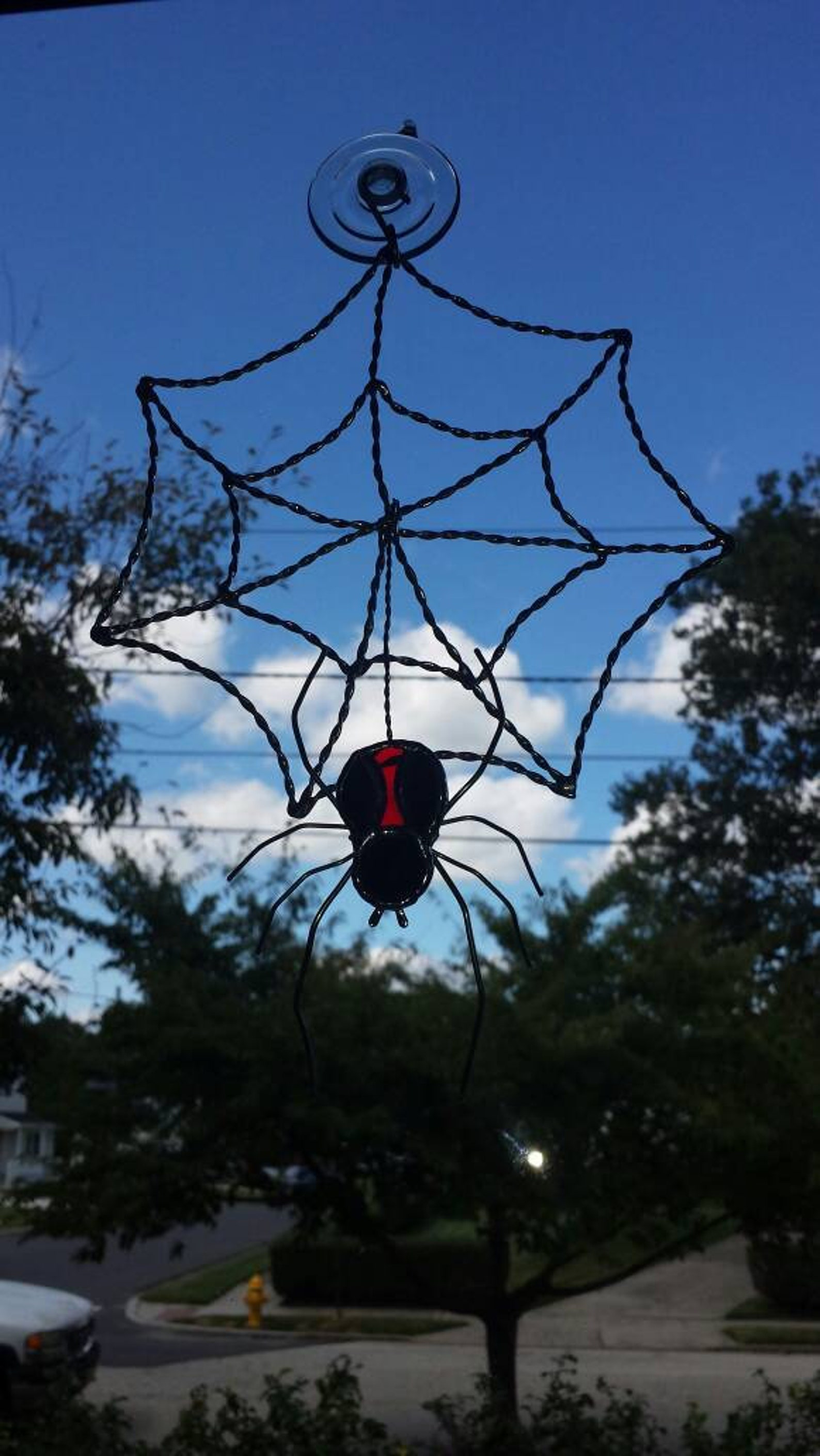 Spider Stained Glass Suncatchers