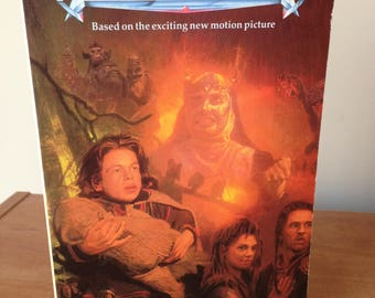 1988 WILLOW The Novel, Paperback - Based on the Motion Picture - Story by George Lucas, Printed in 1988 Lucasfilm Ltd