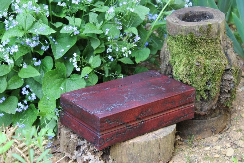 Vintage Jewelry Box Keepsake Wood Box Storage Organizer Rustic Handmade Memory Chest Wooden Personalized Lichtenberg Wedding Keepsake Gift