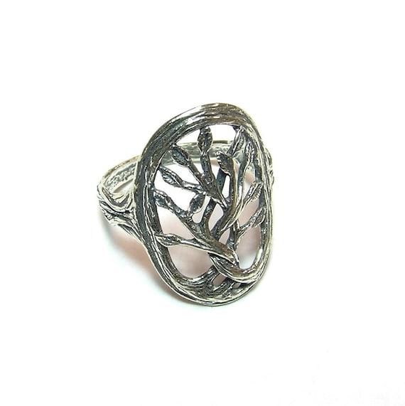 Handarbeit Sterlingsilber Ring aus Silber 925 mit echtem Grünquarz