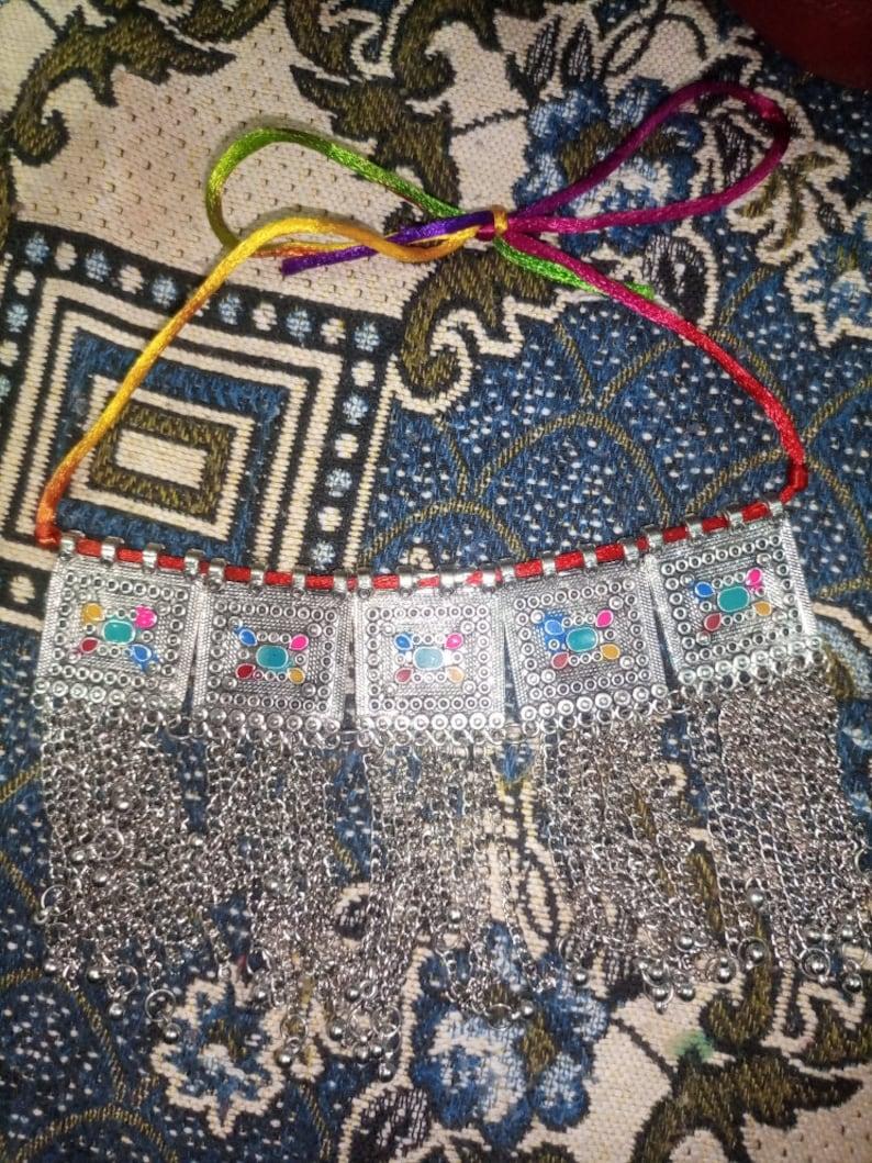 Afghan tribal kuchi necklace Traditional Choker Necklace Handmade Multi Theme