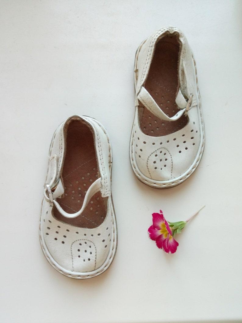 a2271efcbf280 White Vintage Soviet Children shoes leather Sandals baby Shoes   Etsy