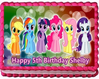 My Little Pony Edible Image Frosting Sheet Cake Topper Birthday Decoration