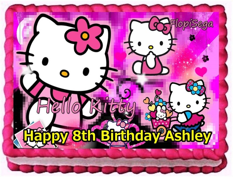 Hello Kitty Edible Cake Topper Birthday Decoration