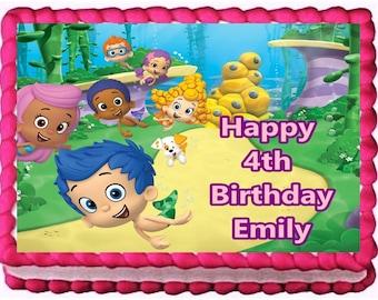 Bubble Guppies Edible Cake Topper Birthday Decoration