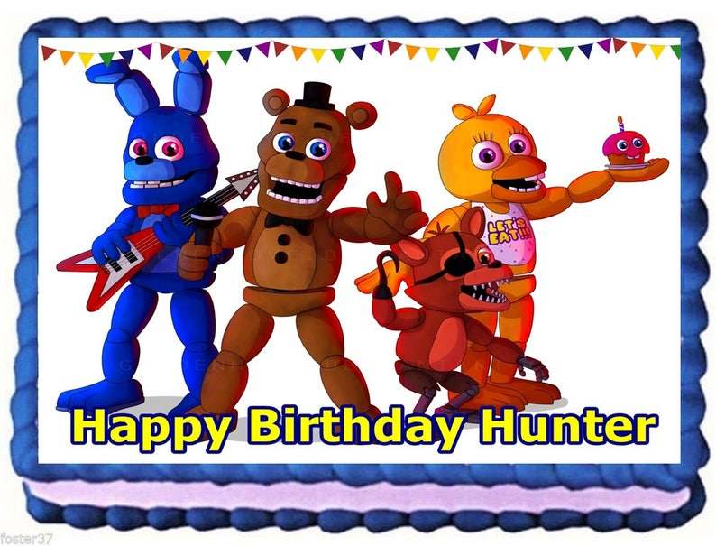 Five Nights at Freddys FNAF World Edible Image Frosting Sheet Cake Topper  Birthday Decoration