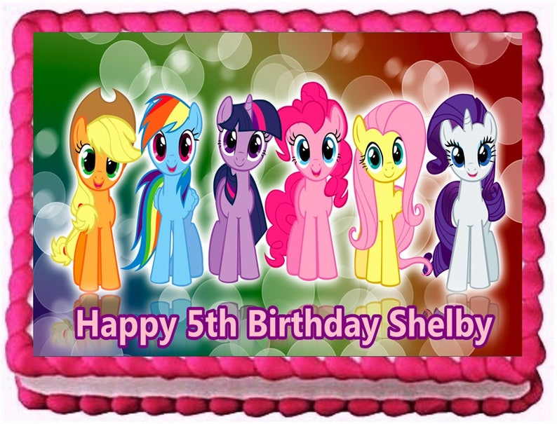 My Little Pony Edible Image Frosting Sheet Cake Topper