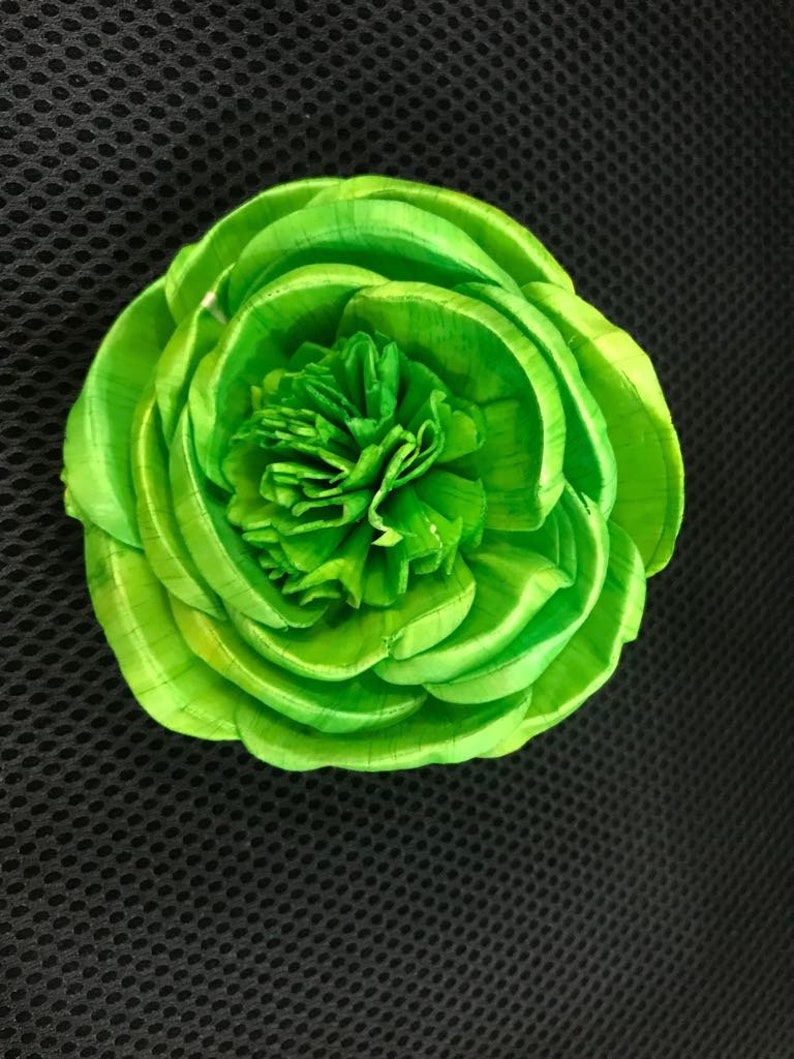 For 100 flowers Sola Wood Flower Green Polau 2 MOQ 10 in mixing quantity