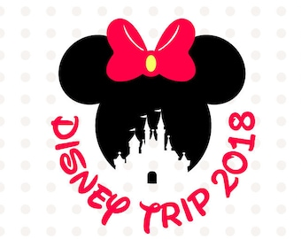Disney trip 2018 SVG Disney Family Vacation 2018, Minnie Mouse SVG Instant Download Minnie Mouse Head Vector Clipart Minnie Mouse Cut File