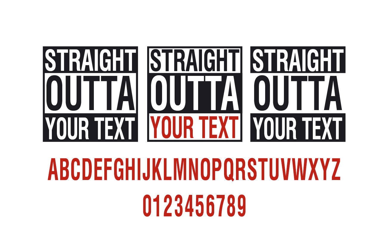 Straight Outta Preschool Svg Straight Outta Your Text Svg Etsy