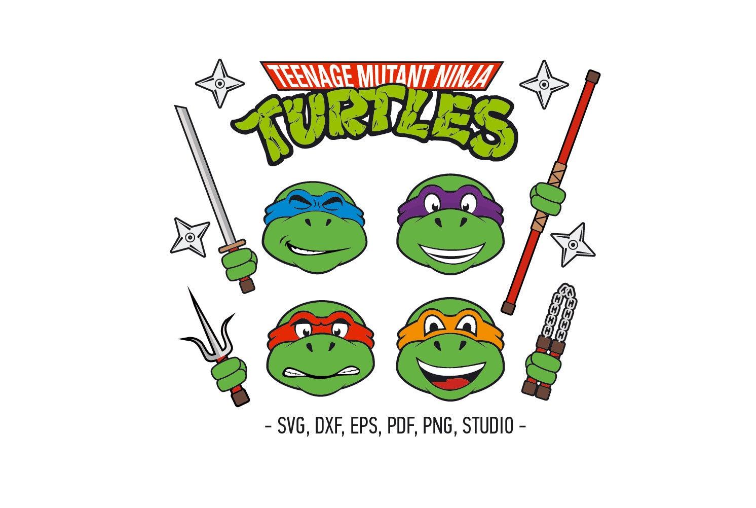 Teenage mutant Ninja Svg Turtles Characters TmNT Turtles | Etsy