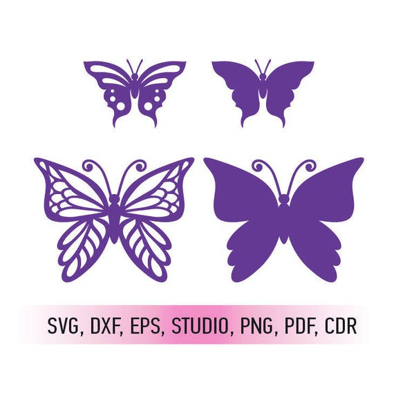 butterflies svg cutting file and butterfly dxf cut file svg etsy