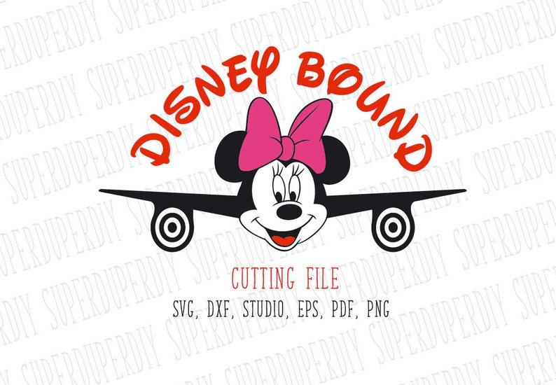 Minnie Mouse Svg Disney Bound Family Shirt Design Airplane Etsy