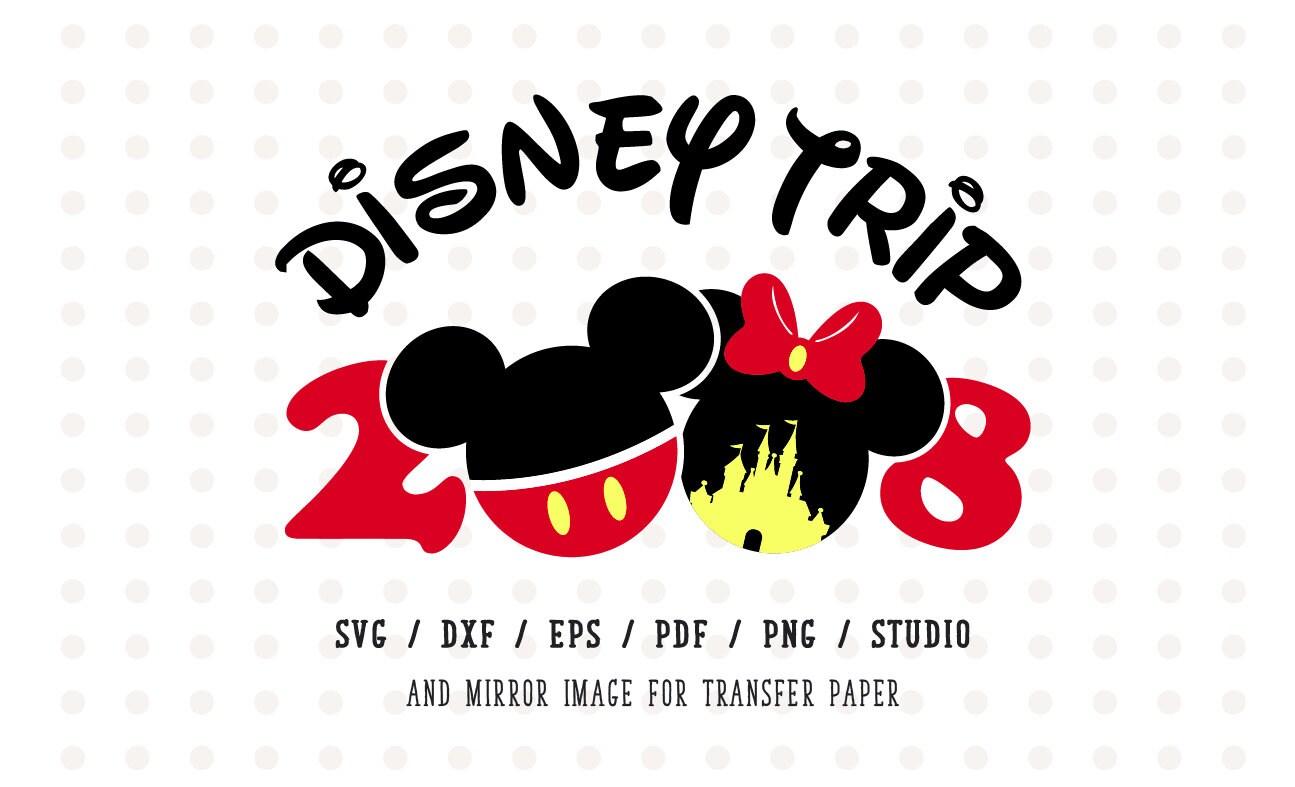 Disney Trip 2018 Svg Disney Family Vacation 2018 Minnie Mouse Etsy