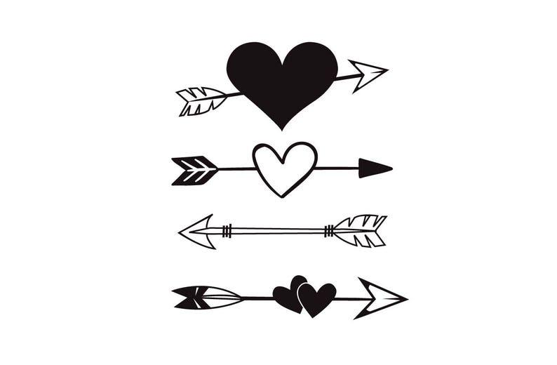 Heart Arrow SVG Arrow Tribal Boho heart SVG Wall Decor ... (794 x 520 Pixel)