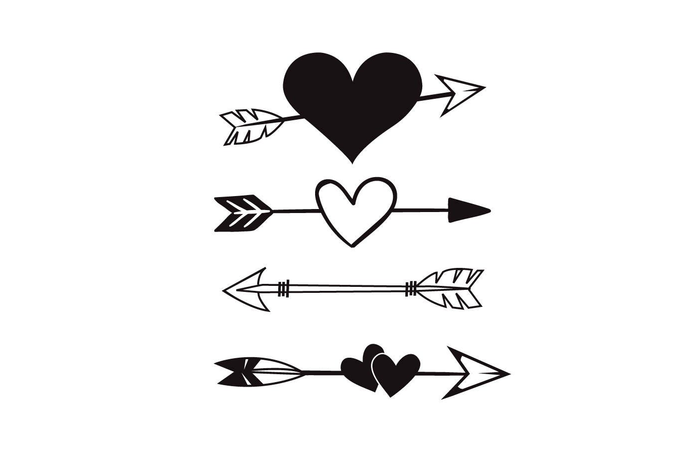 Heart Arrow SVG Arrow Tribal Boho heart SVG Wall Decor ...