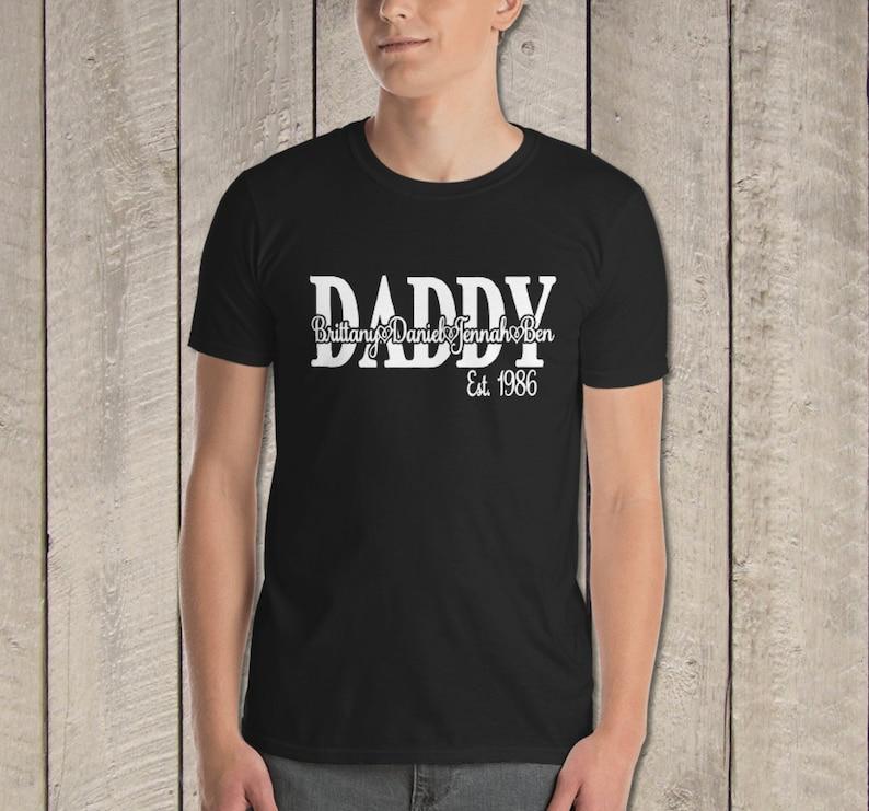 Homme Nouveauté T Shirt Happy Fête Des Pères Papa Love from personnaliser avec des noms