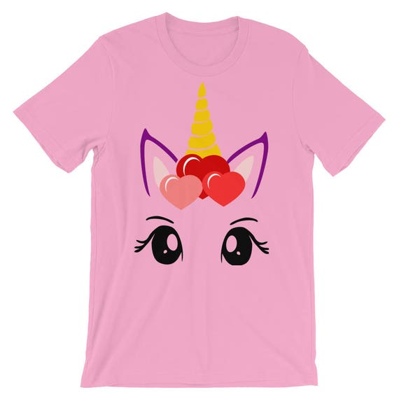 Unicorn Valentine S Day Girl Ladies Woman T Shirt Unicorn Etsy