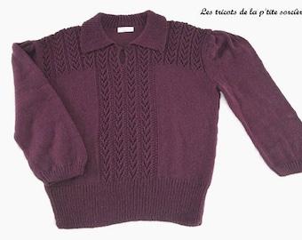 c53be0cb0727 Nouvelles versions Patron tricot robe Fougère