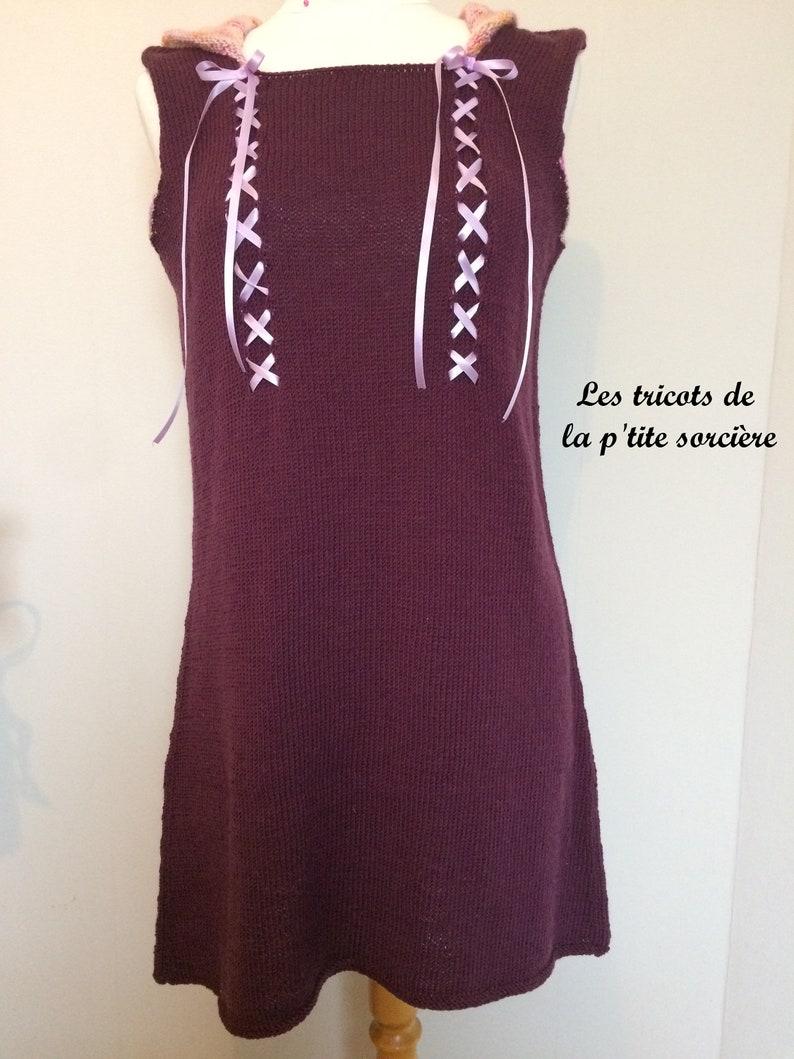 6258a959c19d Patron tricot Robe Lolita Nymphe Adulte