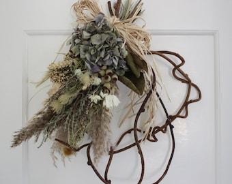 Dried flower wreath - breeze - Indoor wreath